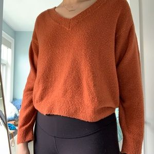 Urban Outfitters Fleece V-Neck Sweater